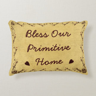 Bless Our Primitive Home Berry Vine Pillow