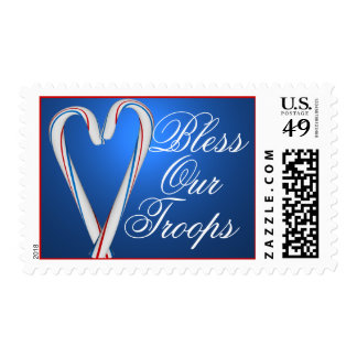 Bless Our Troops Military Christmas Stamps
