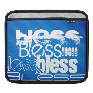 Bless; Royal Blue Stripes Sleeve For iPads