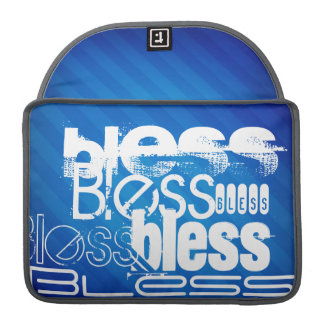 Bless; Royal Blue Stripes MacBook Pro Sleeves