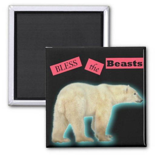Bless the Beasts Polar Bear Magnet