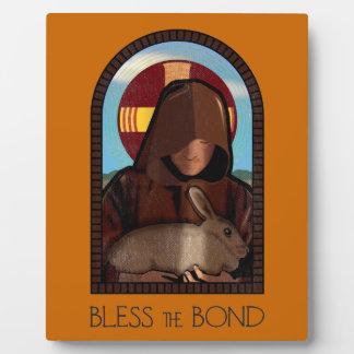 BLESS THE BOND PLAQUE