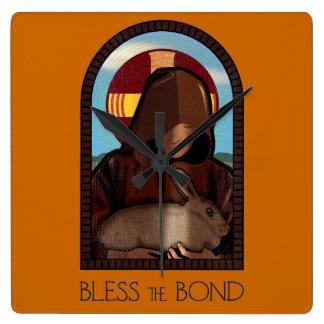 BLESS THE BOND SQUARE WALLCLOCKS