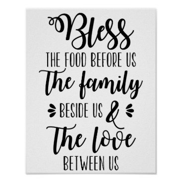 CheerfullyCreative Bless The Food Before Us Family Poster