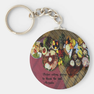 Bless the Food Keychain