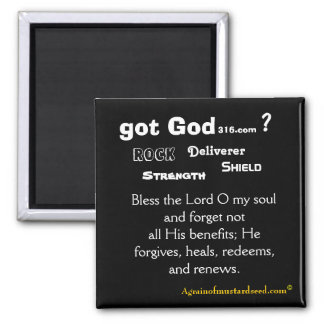 Bless The Lord Bible Quote Magnet