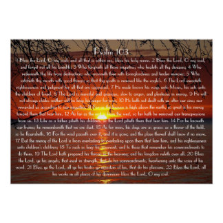 Bless the Lord bible verse Psalm 103 Poster