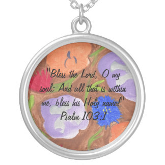 Bless the Lord! Silver Plated Necklace