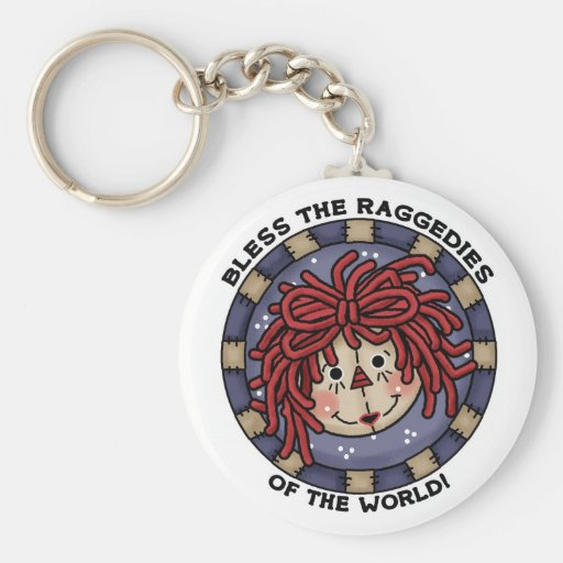 Bless the Raggedies of the World keychain
