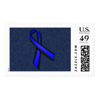 Bless the Thin Blue Line Cross and Memorial Ribbon Postage