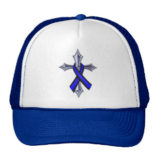 Bless the Thin Blue Line Ribbon and Cross Hat