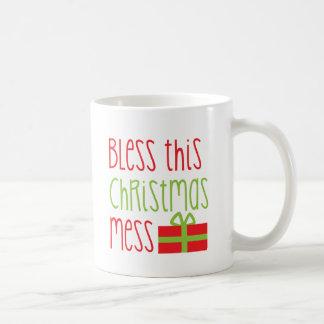 Bless this Christmas Mess Xmas funny design Coffee Mug