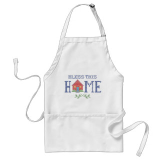 Bless This Home Cross Stitch Embroidery Adult Apron