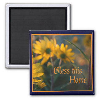 Bless this Home Magnet~ Fall Sunflowers Magnet