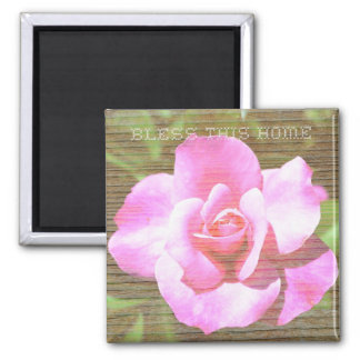 Bless This Home Rose Magnet