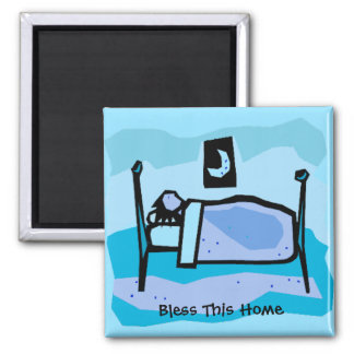 Bless This Home Square Magnet