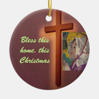 BLESS THIS HOME THIS CHRISTMAS ornament