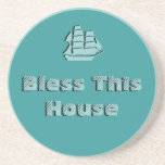 Bless This House - Nautical Drink Coaster