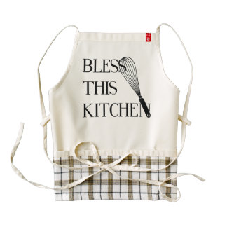 Bless this Kitchen Zazzle HEART Apron