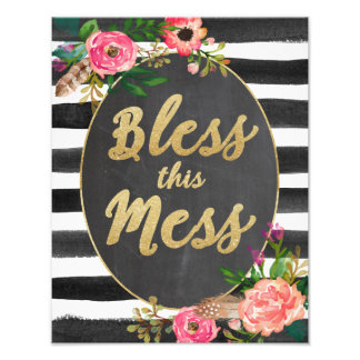 Bless This Mess Wall Art Photo Print