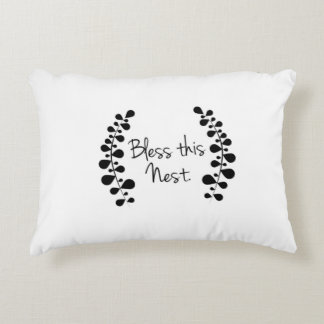 Bless this nest throw pillow