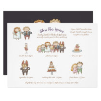 Bless This Union - Cute Wedding Invite/Program Invitation