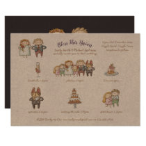 Bless This Union - Cute Wedding Invite Timeline