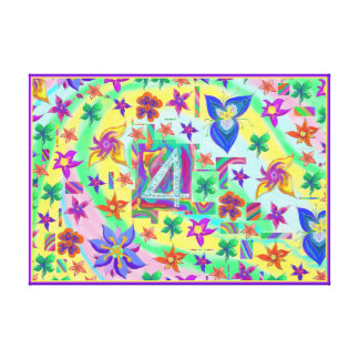 Bless you 4 all your Wonderfulness Flower Canvas