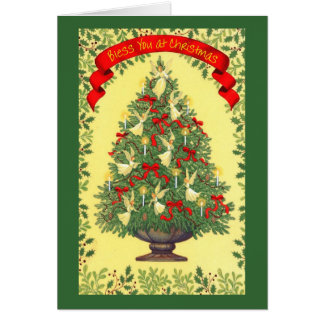 Bless You At Christmas Greeting Card