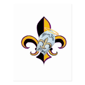Bless You Boys Fleur de LIs Postcard