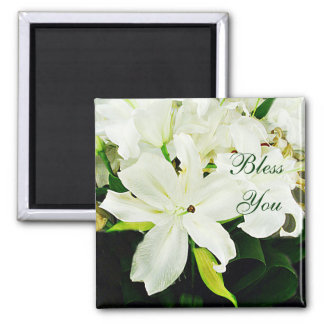 Bless You-White Lilies_ Magnet