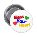Bless Your Heart 2 Inch Round Button