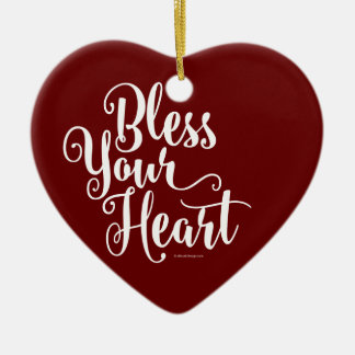 Bless Your Heart Ceramic Ornament