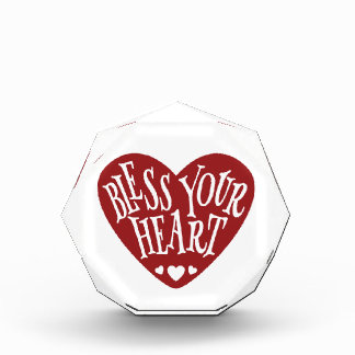Bless Your Heart in Heart Acrylic Award