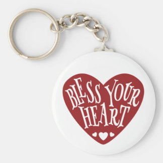 Bless Your Heart in Heart Keychain