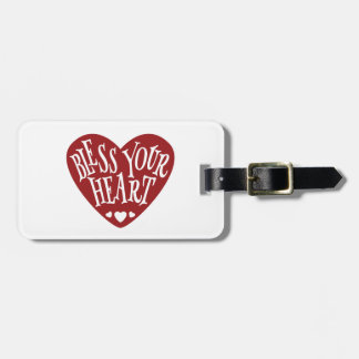 Bless Your Heart in Heart Luggage Tag