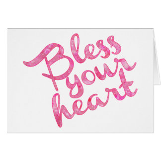 Bless Your Heart Pink Sparkle Card