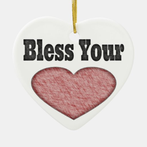 Bless your heart southern saying christmas tree ornament zazzle