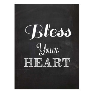 Bless your heart  southern saying quote postcards