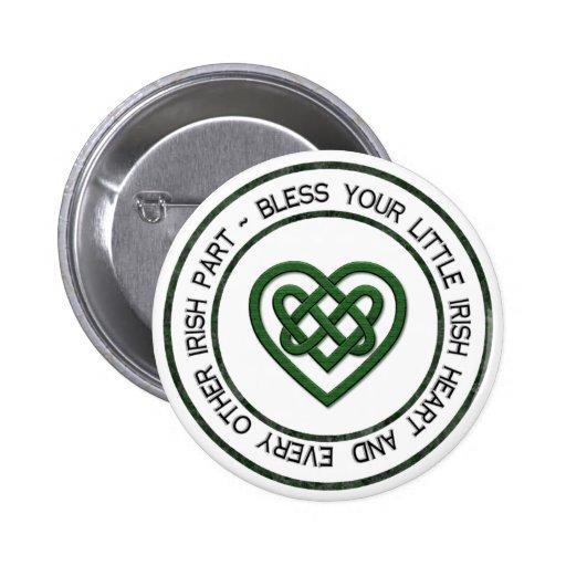 Bless your Irish Heart Pinback Button