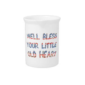 Bless Your Little Old Heart Southern Style Pitcher