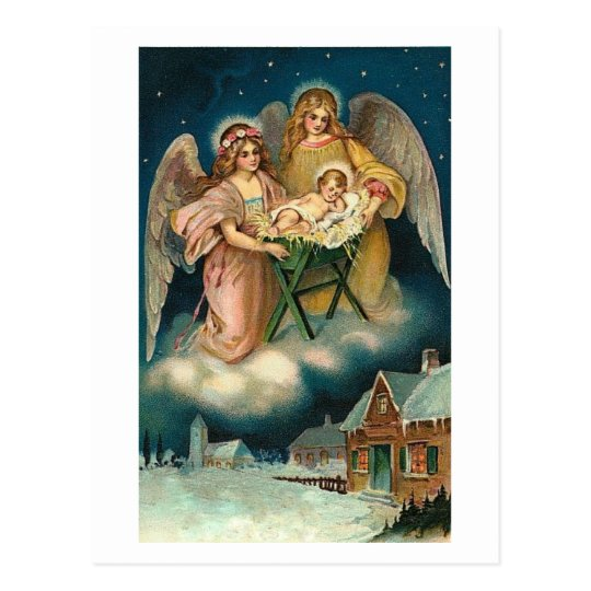 BLESSD CHRISTMAS AND HAPPY HEALTHY NEW YEAR POSTCARD