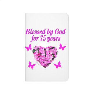 BLESSED 75TH BIRTHDAY FLORAL DESIGN JOURNAL