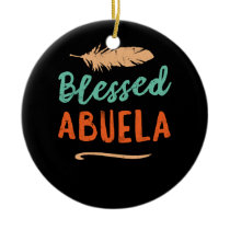 Blessed Abuela Puerto Rico Grandma Mothers Day Ceramic Ornament