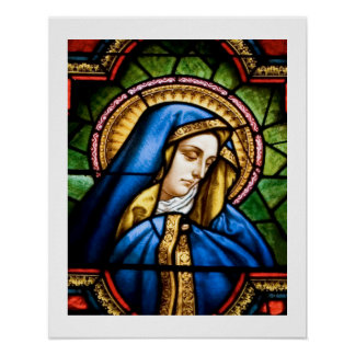 Blessed Among Women Stained Glass 16x20 Poster