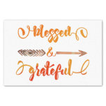 blessed and grateful thanksgiving tissue paper