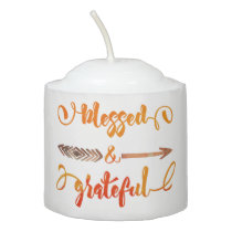 blessed and grateful thanksgiving votive candle