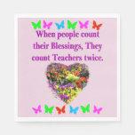 BLESSED AND INSPIRING TEACHER DESIGN PAPER NAPKIN