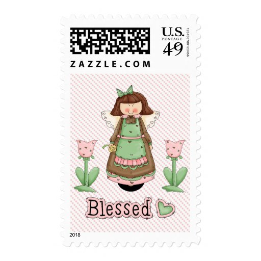 Blessed Angel 3 Postage Stamps