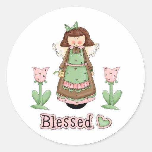 Blessed Angel 3 Round Sticker